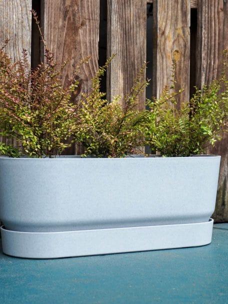 Trough Greenville Elho gevuld met planten