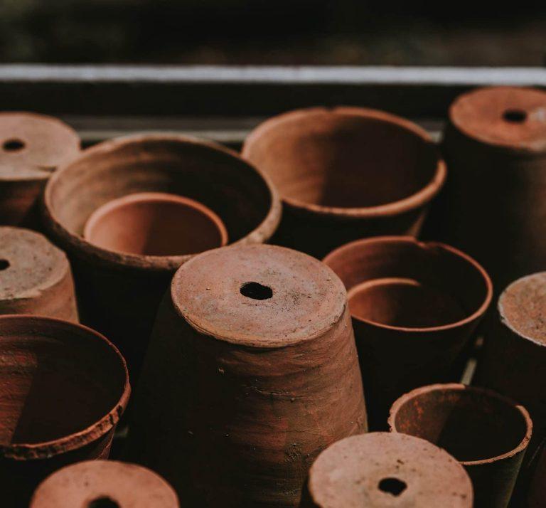 Binnenpot en terra cotta pot