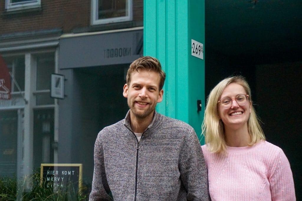 Initiatiefnemers Marvy Green - Winfried de Coo en Lieke van Wilpen