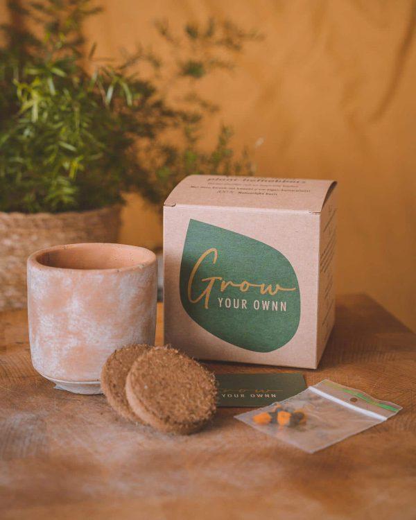 Grow Your Own tabletten potje zaden
